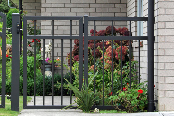 Classic Gate Balclutha Style Pedestrian gate and custom made fence panel to match it all2